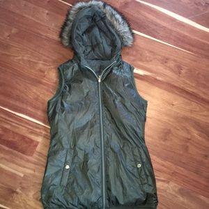 Michael Kors reversible winter vest with hood
